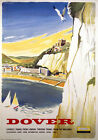 White Cliffs of Dover, Kent. Vintage BR Travel poster by Studio Seven. 1958