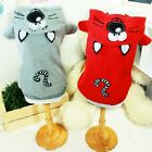 Luxury Pet Apparel- ChiChi Clothes Gray&Red Small-XLarge Cute Hoodie Shirt