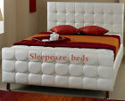 LEATHER BED  *NEW EXCLUSIVE DESIGN PERFECT FOR ANY BEDROOM 3FT, 4FT6, 5FT