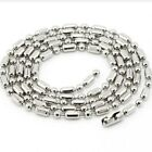 Stainless Steel Chain Ball Bamboo O Ring Necklace Curb Statement Wedding Beads