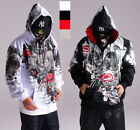 #23 Hip Hop ECKO UNLTD Napping Zipper Hoodie Cotton Hedging Sweater Sweatshirt