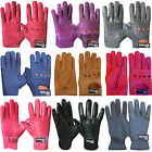 Leather Riding Gloves Soft Leather Driving Wheel Chair Gloves Kids,Ladies,Gents