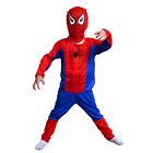 Chindren kid boys spiderman  party costume set  cosplay costume clothes
