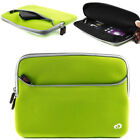 "Kroo Soft Washable Slim Travel Neon Green Carrying Sleeve for 9.7""-10.2"" Tablets"