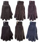 New Mens Heat Holders HEAT WEAVER Thermal Winter Gloves, Charcoal Grey or Black