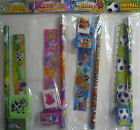 Party Filler Stationary Sets Pencil, Sharpener, Ruler & Rubber Pirate, Fairy etc