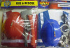 Fire & Rescue Or Police Children's Fancy Dress Play Sets (Top, Hat, accessories)