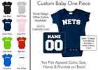 Nets Baby One Piece - Custom Name and Number, Creeper, Onesie