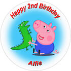 Edible Personalised George Pig Cupcake Party Wafer Cake Toppers