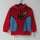 Boys RED Spiderman Long Sleeve Hoodie Jumper Size,S4yrs M5-6yrs L7yrs BRAND NEW!