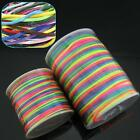 70&90m/roll Strong Nylon Macrame Gradient Colorful Cord Braided Bracelet Beading