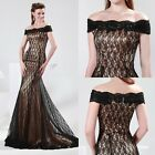 Charming Mermaid Lace Bridesmaid Pageant Ball Gown Evening Prom Party Long Dress