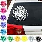 Volleyball Mom decal net sports beach sticker car truck.