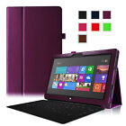 Slim Folio PU Leather Case Stand Cover for Microsoft Surface RT 10.6 Inch Tablet