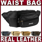 Real Leather Waist Bag with phone holder bum bag fanny pack money belt travel