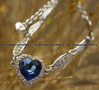 Titanic Heart Of The Ocean Blue Crystal Necklace Love Xmas Gift For Her Women ♥