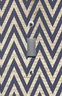 Light Switch Plate Switchplate & Outlet Covers CHEVRON - BLACK & BROWN NEWSPRINT