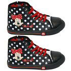 NEW GIRLS INFANT DISNEY MINNIE MOUSE SCHOOL FASHION TRAINERS ZIP KIDS SHOES SIZE