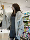New100% Real Rabbit Fur Coat Cape Poncho Stole Sweater Garment Clothing Fashion