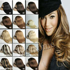 18Colors 100% 7/8Pcs Real Remy Clip In Human Hair Extensions 70g-120g Free Ship