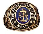 Rothco 823 Brand New USA Made US Navy Royal Blue Deluxe Engraved Ring