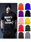 Fancy Unisex Solid Color Warm Plain Acrylic Knit Cuff Ski Beanie Skull Hat Cap