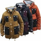NEW MENS BRANDED COAT SOUL STAR TOBACCO NAVY RUST JACKET AUTUMN WINTER DOOGIE