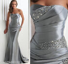 2017 Silver Evening/Prom dresses/party/formal gown wedding gown ALL Size Hot AAA