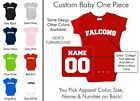 Falcons Baby One Piece - Custom Name and Number, Creeper, Onesie
