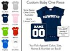 Cowboys Baby One Piece - Custom Name and Number, Creeper, Onesie