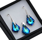 SWAROVSKI ELEMENTS 16mm BAROQUE Earrings/Set- STERLING SILVER - Colours