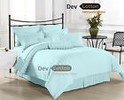 Brand New Extra TC Aqua blue Color Bedding Set,100%Cotton,Choose For Your Bed
