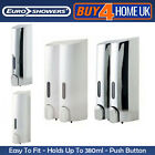 Euroshowers Tall Single & Double Dispenser Chrome Wall Mounted Soap
