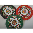 Neotrims Hand Crafted Beaded Motifs, Circle Embellished Sew On Badges Decoration