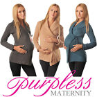 Maternity Wrap Over Cardigan Coat Pregnancy Nursing Size 8 10 12 14 16 18 9002