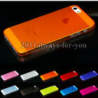0.5mm Ultra Thin Matte Back Hard Plastic Case Cover Skin For iPhone 5 5G 5Gs 5S