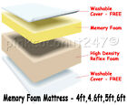 MEMORY FOAM ORTHOPAEDIC MATTRESS DOUBLE 4FT6 5FT KING SIZE - FREE COVER