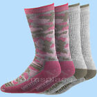 Women Wolverine Socks 2 Pairs FULLCUSHN / CAMO Thermal Insulating Wool Crew M