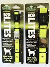 CANAC K9 LITES Dog Collar ~ High Visibility ~ Fluorescent ~ SMALL & MED/LARGE