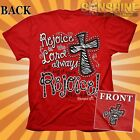 NEW REJOICE in the Lord Always  Womens Cherished Girl Christian T-Shirt KERUSSO