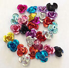 80 Aluminum metal Beads, Roses, Flower, 12mm mixed colours jewellery making