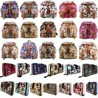 Butterfly Owl Oilcloth Backpack Rucksack Shoulder School Bag And Matching Purse