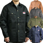 Men Jackets Ben Davis Original Snap Front Blanket Lining Black or Indigo Denim