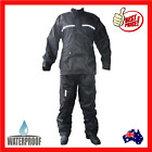 4 Piece Waterproof Rain Suit Wet Weather Gear For Motorcycles Motorbikes New