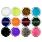 12 18 x Colors Glitter Powder Beads For Acrylic UV Gel Nail Art Decoration on Rummage