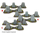 Dragons Teeth Tank Traps - 28mm Resin Wargames Scenery 40k - Choose Set of 5