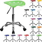 Best Tractor Seat Chrome Metal Task Stool Mobile Office Chair Swivel Wheel Color