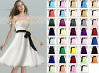 NEW Bridesmaid Dress Wedding Prom Dress Gown Short Chiffon Size 6 8 10 12 14 16