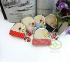 "5/10/25/50PCS Wholesale Mixed DOT CHECK LITTLE FLOWER Clutch Coin Bag 4x4""SNA042"