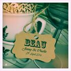 10 x Custom Vintage Carnival Rustic Place Setting Wedding Tags with Guest Names